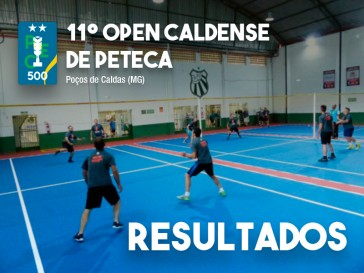 Resultados do Open Caldense de Peteca (PEC 500)