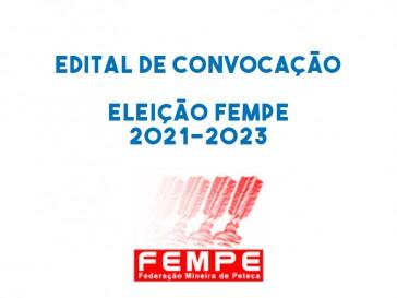 Edital de convocação para eleição da Diretoria FEMPE 2021-2023