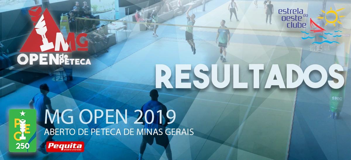 MG Open - Aberto de Peteca de Minas Gerais Resultados