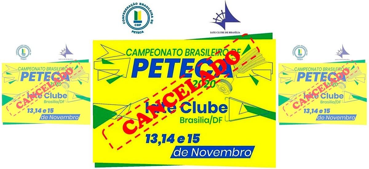 Cancelamento do Campeonato Brasileiro de Peteca 2020 (medida de prevenção contra a Convid-19)
