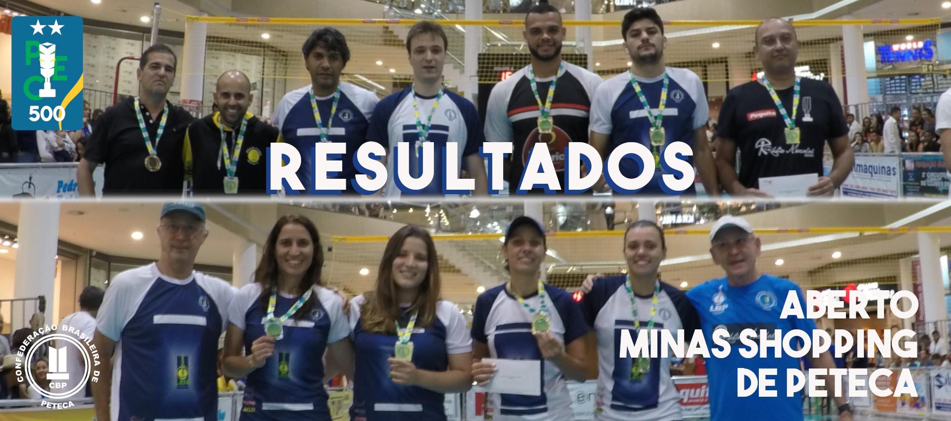 Resultados do Aberto Minas Shopping de Peteca
