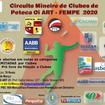 Circuito Mineiro de Clubes de Peteca 2020