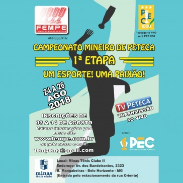Campeonato Mineiro de Peteca - 1ª Etapa