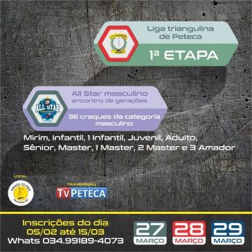 Liga Triangulina de Peteca - 1ª Etapa