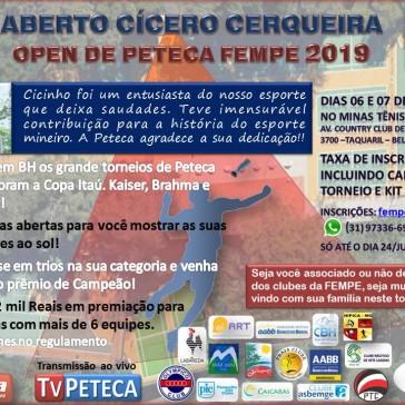 Open de Peteca da FEMPE 2019